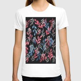 180726 Abstract Leaves Botanical Dark Mode 2 |Botanical Illustrations T-shirt