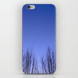 Blue hour twin trees iPhone Skin