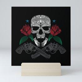 Skull and Guns Mini Art Print
