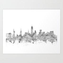 new york skyline music Art Print