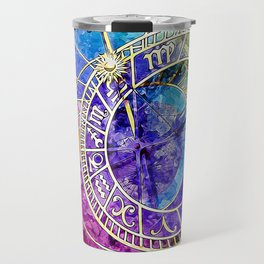 Alchemical Runes Clock Travel Mug