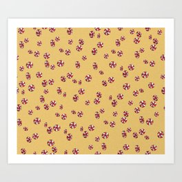 Peppermint Candy in Yellow Art Print