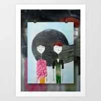 Sandra & Amir Art Print
