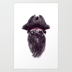 Capt. Blackbone the Pugrate Art Print