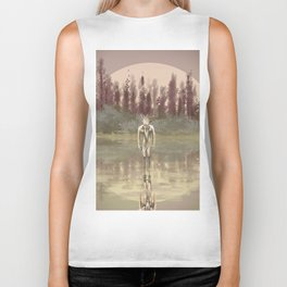 Tree spirit from the woods lake Biker Tank