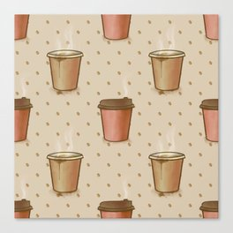 Coffee paper cup Canvas Print
