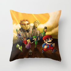 Super Mario Bros. The Movie: The Game Throw Pillow
