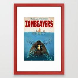 Zombeavers Framed Art Print
