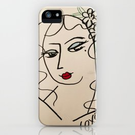Sultry eyed babe iPhone Case