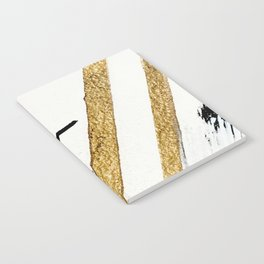 Armor [8]: a minimal abstract piece in black white and gold by Alyssa Hamilton Art Notebook