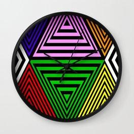 Infinite Pyramids Wall Clock