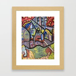 The Church at Auvers a la Mela Framed Art Print