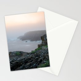 Mountains over the sea with orange mist	 Stationery Cards