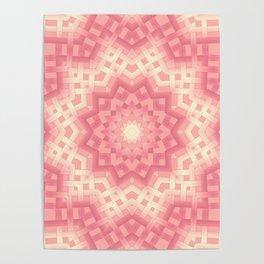 pink basket weavу #binding #ribbon #pink #peach #beige Poster