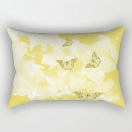 Secret spring garden with butterflies Rectangular Pillow