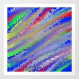 Crystallized Pastel Waves. Art Print