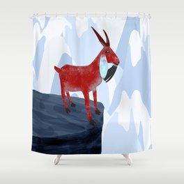 Mountain Goat Design Shower Curtain