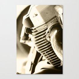 Motorbike engine close-up view Canvas Print