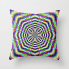 Psychedelic Octagon Pulse Throw Pillow