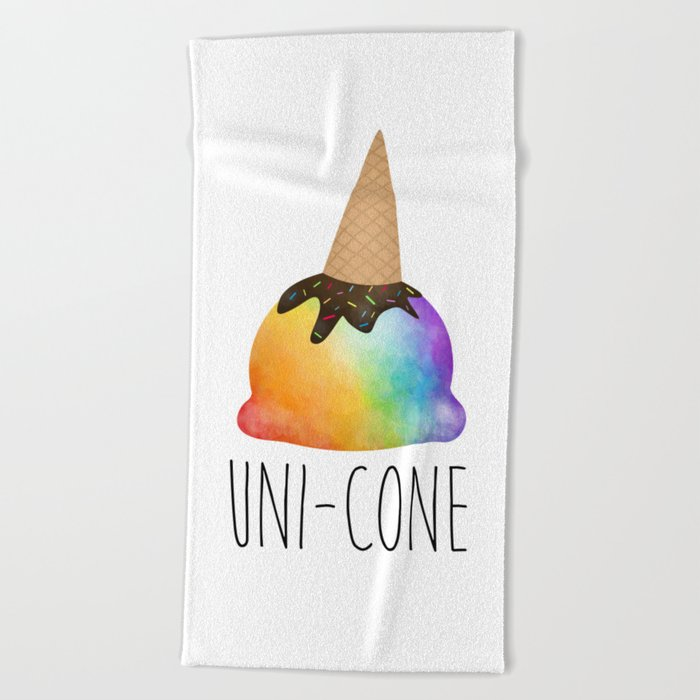 Uni-cone Beach Towel