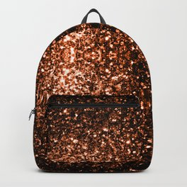 Beautiful Bronze Orange Brown glitters sparkles Backpack