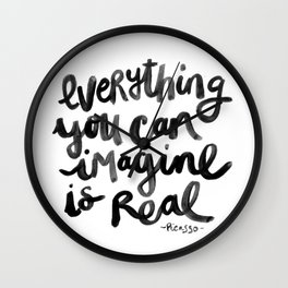 Everything You Can Imagine Quote Wall Clock