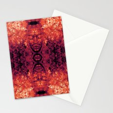 Brother Meditation - red purple Stationery Cards