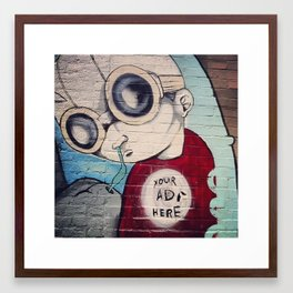 Ad Space Framed Art Print