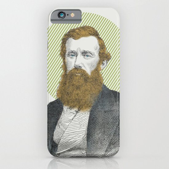 Blue Eyes, Red Beard, Gray Suit iPhone & iPod Case