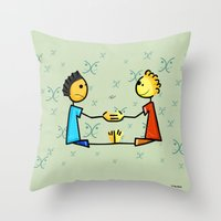 gemini Throw Pillows featuring Gemini by Giuseppe Lentini