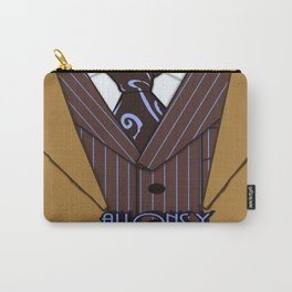 Brown Suit Carry-All Pouch