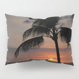 Hawaii sunset palm Pillow Sham