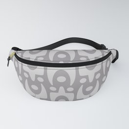Mid Century Modern Abstract Pattern 166 Gray Fanny Pack