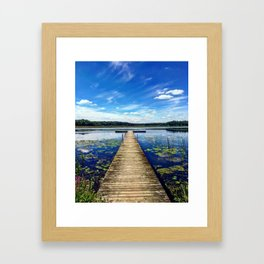 Chain O Lakes Framed Art Print