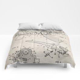 Ak-47 Rifle Patent - Ak-47 Firing Mechanism Art - Antique Comforters
