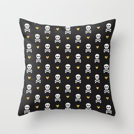 Skulls & Crossbones Pattern Throw Pillow