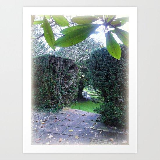 The Autumn Terrace. Art Print