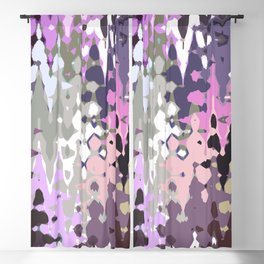 Violet shades icicles, abstract geometric jagged shapes, sharp forms Blackout Curtain