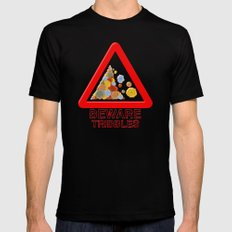 Warning tribbles Black Mens Fitted Tee MEDIUM