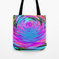 60s Tote Bags featuring Psychedelic 60s by Alice Gosling