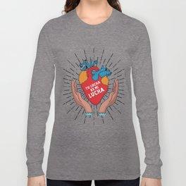 Tu Lucha Es Mi Lucha (Open Hands) Long Sleeve T-shirt