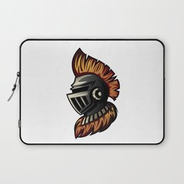A Knight head or helmet with Mohawk hair style Laptop Sleeve