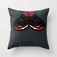 air jordan Throw Pillows featuring AIR JORDAN 11 by originalitypieces