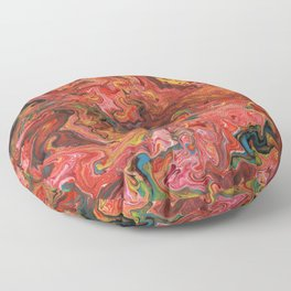Abstract Oil Painting 3 Floor Pillow