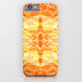 Realistic premium yellow colours marble luxury design for home decoration iPhone Case