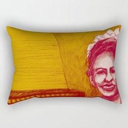 The vocalist Rectangular Pillow