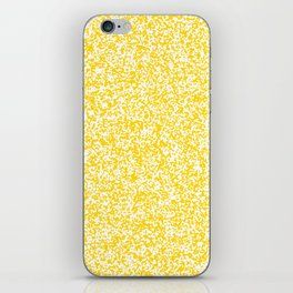 Tiny Spots - White and Gold Yellow iPhone Skin