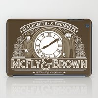 mcfly iPad Cases featuring McFly & Brown Blacksmiths by Doodle Dojo