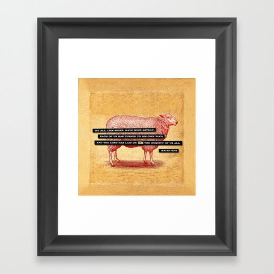 Like Sheep Framed Art Print