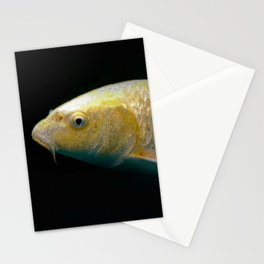 A lucky golden colored carp/Nishikigoi(Japanese Colored Carp) Stationery Cards